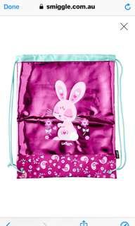Smiggle drawstring bag pink