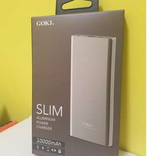 全新 GOKI slim Aluminum power charge 10000mah