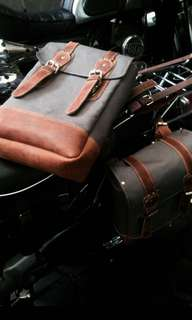 Customarily Saddle bags motor cafe racer harley