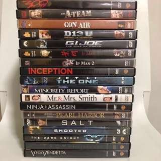 🚚 DVD Action Movies (with English/Chinese subtitles)