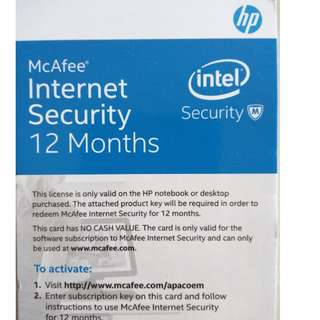 McAfee Internet Security(12mths)