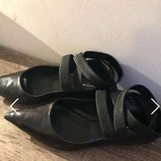 Zara leather flats size aud39