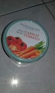 Velrose secret face mask carrot tomato