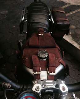 Bike bag saddle harley bmw tank bag custom