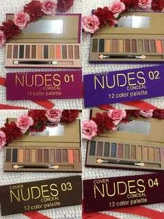 Nudes Conceal 12 Color Palette