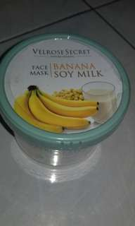 Velrose secret face mask banana soymilk