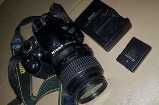 Nikon D3100 SLR with FREE Fancier WT-3550 Tripod