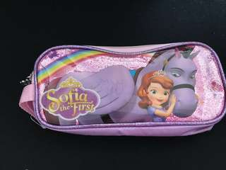 Sofia The First Double Zip Pencil Pouch
