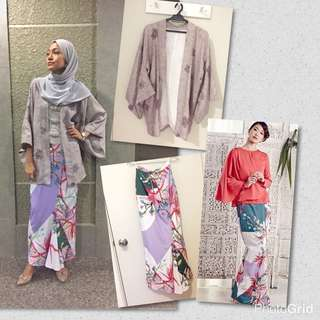 Kebaya Kimono The_Oldees with MimpiKita Batik Skirt