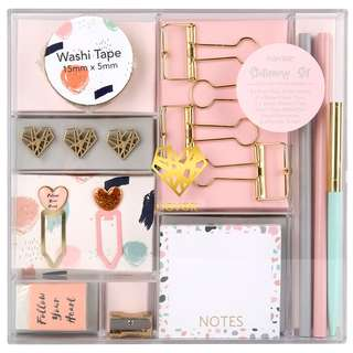 🚚 Rose Gold Stationary Set