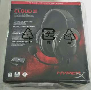Brand New Kingston Hyperx Cloud 2 Pro Gaming Headset