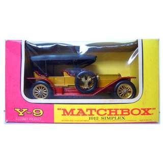 Lesney's Matchbox Y-9 1912 Simplex (Models of Yesteryear Series)  * Original Super Vintage Set- Release in 1968 * Excellent Condition by Vintage Standards  (Diecast Car Vintage Collectible)