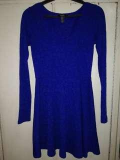 F21 dress, royal blue..