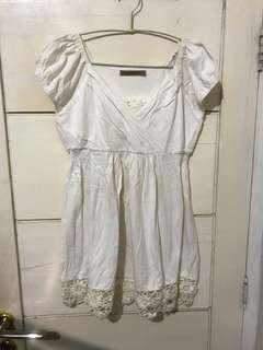 White babydoll top