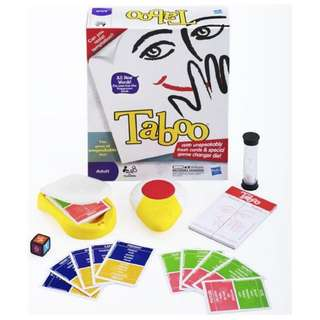 taboo the game of unspeakable fun with fresh cards