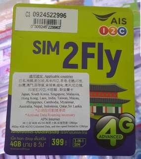 AIS上網卡 電話卡 數據卡 8日無限4G數據卡