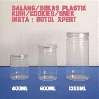 Balang / Bekas Plastik Kuih / Cookies / Snack