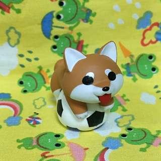 🚚 狗狗 盒玩 柴犬 足球 公仔