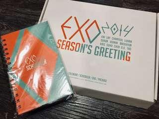 全新未開 EXO 2014 season greeting schedule book 記事簿