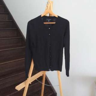BANANA REPUBLIC BLACK CARDIGAN SIZE M EUC