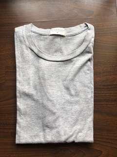 Giordano Plain Gray Rneck Tshirt Men's