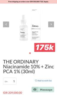 The Ordinary Niacinamide 10% + Zinc PCA 1% (30 ml)