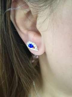 閃亮藍寶石耳環14