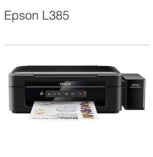 Epson L385連續供墨印表機(附兩組墨水+2年保固)