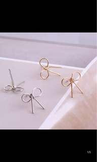🚚 簡約蝴蝶結耳環