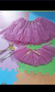 Mother and Daughter Tutu Skirt with Crown Head Dress