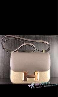 全新Hermes Constance 24cm ©️ M8 Gris Asphalt 🔥 Epsom Leather with Rose Gold Buckle  Full set with original receipt  Please inbox💌for more details❤️ Thanks😘