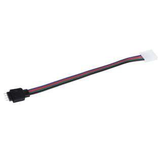 RGB LED Strip 4 Pin Male to 10mm Width Plug Connector