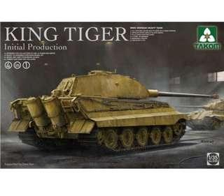 Takom 1/35 King Tiger Tank Model Kit