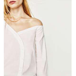 Zara Poplin Bodysuit