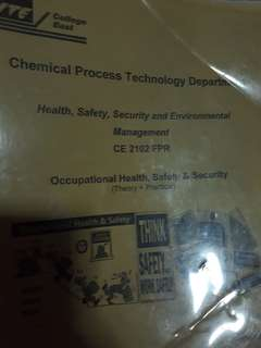 Occupational Health, Safety and Security theory + Practical (Nitec in Chemical Process Technology)