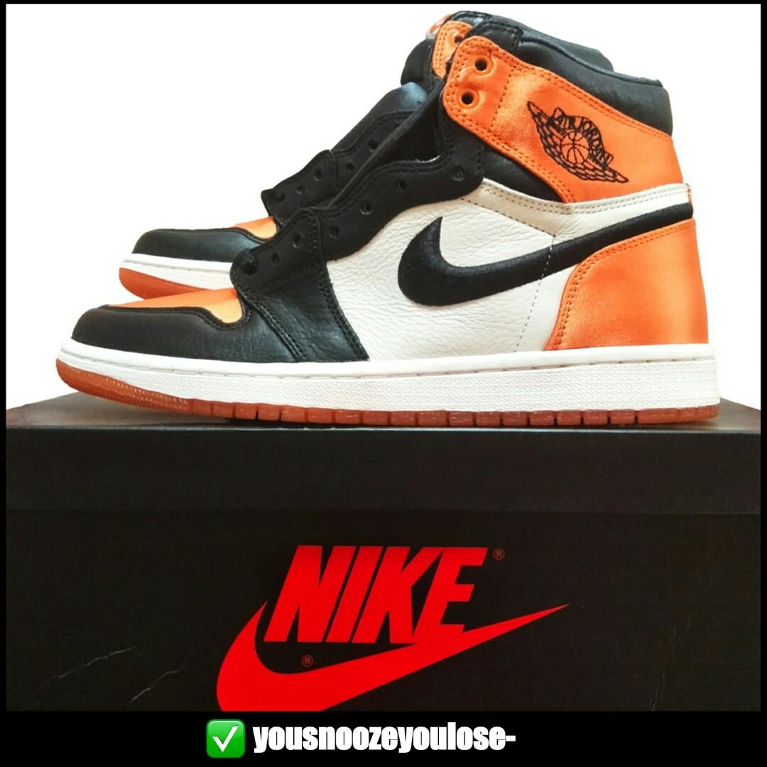 c749c361660 🔥INSTOCK🔥 AIR JORDAN 1 AJ1 RETRO HI HIGH SATIN SBB SHATTERED BACKBOARD,  Men's Fashion, Footwear, Sneakers on Carousell