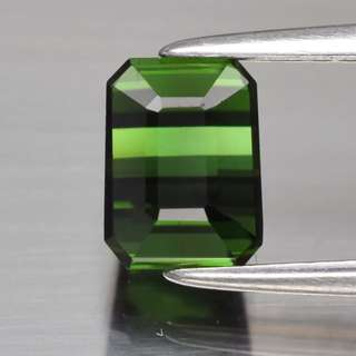 1.51ct Octagon Natural Green Tourmaline