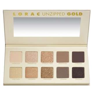 100% BRAND NEW ORI LORAC UNZIPPED GOLD EYESHADOW PALETTE + EYESHADOW PRIMER
