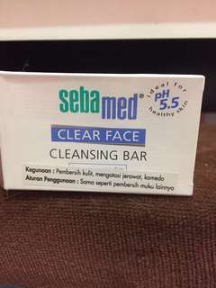 Sebamed clear face cleansing bar for acne