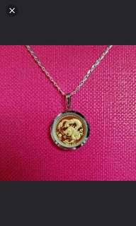 999.9 Gold Pendant With Silver Chain 足金生肖吊咀連925純銀項鍊套庄           ❤Powerful Dragon ❤
