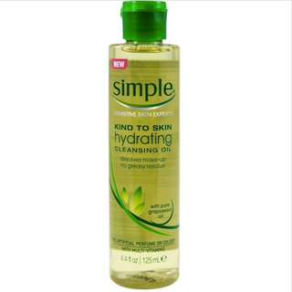 SIMPLE KTS Hydrating Cleansing Oil 125ml - PO Singapore