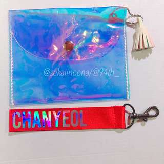 Hologram Pouch + EXO Chanyeol nametag (2nd listing)