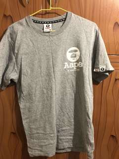 Aape 灰色經典Logo T 尺寸S