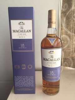 優惠只限7⃣️月內 :Macallan 18 (Fine Oak)