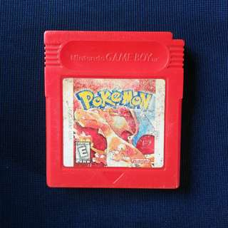 Gameboy Cartridge: Pokemon Red