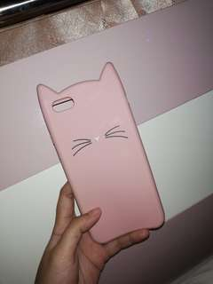 CASE CAT PINK IPHONE6+/6S+