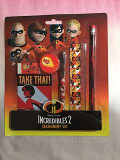 Brand New Incredibles Stationary Set