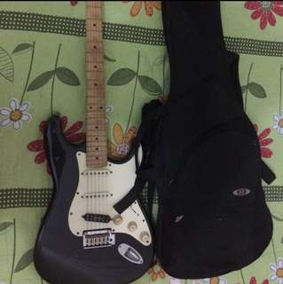 Squier stratocaster by fender guitar