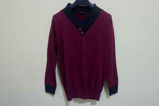 Men's Sweater Red&Black