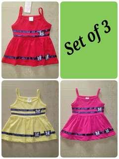 Baby dress set of 3